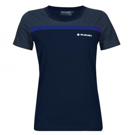 audemar:T-SHIRT FEMME SUZUKI TEAM BLUE