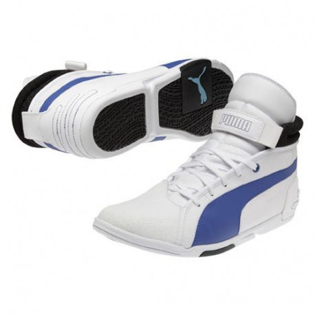 Baskets PUMA Xelerate Montantes Blanches et Bleues