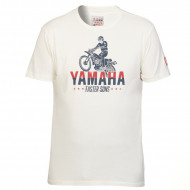 T-SHIRT ABBOT BEIGE POUR HOMME-YAMAHA FASTER SONS 2019