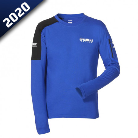 audemar:T-SHIRT HOMME MANCHES LONGUES LIVERPOOL-YAMAHA PADDOCK BLUE 2020