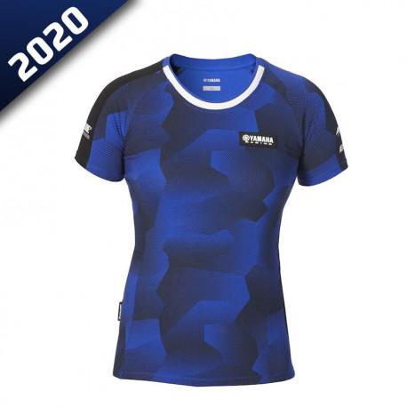 audemar:T-SHIRT CAMO FEMME FOGGIA-YAMAHA PADDOCK BLUE 2020