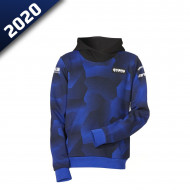 audemar:SWEAT CAMO CAPUCHE ENFANT ESSEN-YAMAHA PADDOCK BLUE 2020