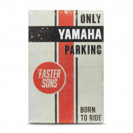 audemar:PLAQUE DE PARKING FASTER SONS YAMAHA
