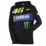 audemar:SWEAT A CAPUCHE POWERLINE HOMME VR46 YAMAHA