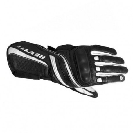audemar:Gants REV'IT Raven Noirs et Blancs