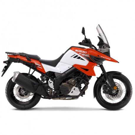 audemar:V-STROM 1050 XT Pearl Brilliant White / Glass Blaze Orange