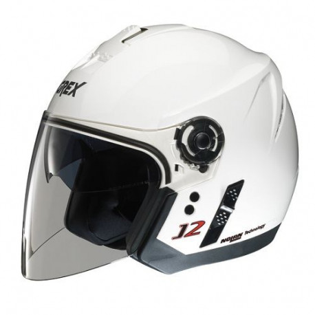 audemar:Casque GREX J2 Kinetic Blanc