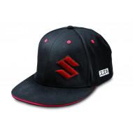 audemar:Casquette SUZUKI Baseball Noire/Rouge