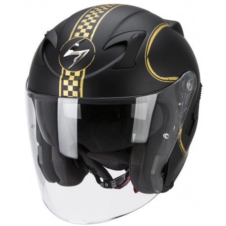 audemar:CASQUE SCORPION EXO 220 AIR BIXBY NOIR/OR