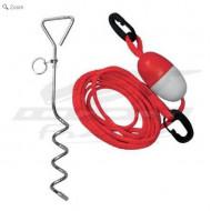 Ancre à visser ATLANTIS avec corde et flotteur audemar