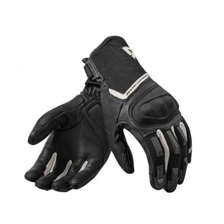 audemar:GANTS ÉTÉ REV IT STRICKER 2 NOIRS ET BLANCS